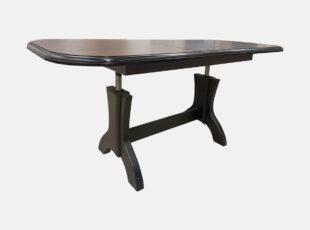 Hokei žurnalinis staliukas transformuojamas i valgomąjį stalą, riešuto spalvos, su natūralios medienos kojomis
