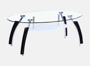 MLM 221 stiklinis zunalinis staliukas su papildoma lentynele