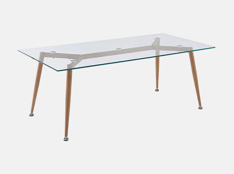 MLM 310 stiklinis zunalinis staliukas su metalinėmis kojelėmis