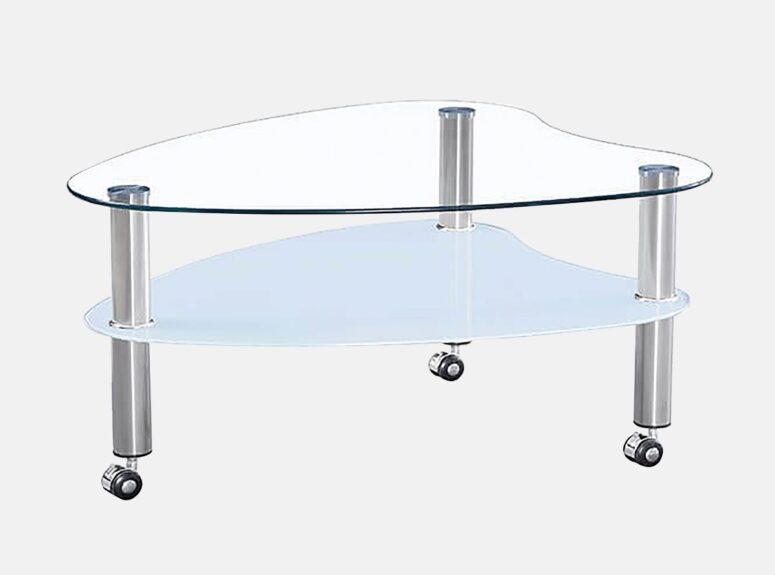 MLM 911 stiklinis zunalinis staliukas su papildoma lentynele