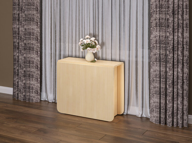 siti isskleidziamas stalas knyga sviesiai rudas dub molocni