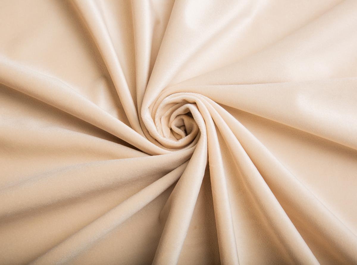 Ypatingai minkštas ir švelnus kreminės spalvos veliūras Jūsų naujajai lovai