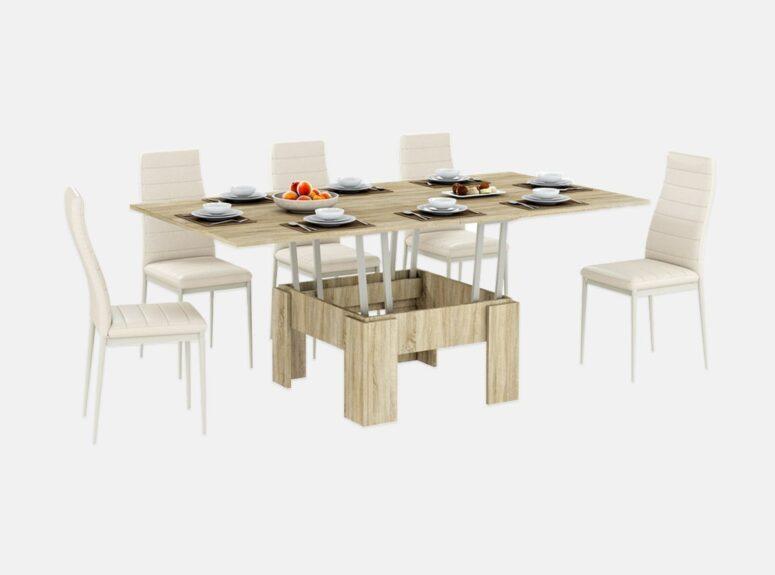zurnalinis staliukas transformuojamas i valgomaji stala sonoma azuolas 1
