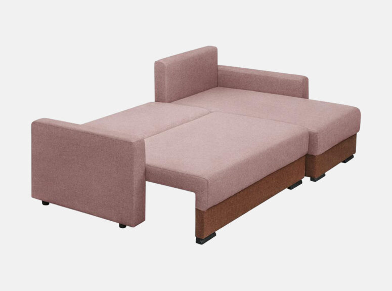 Stilinga kampine sofa Luidži skirta jusu moderniam gyvenamajam kambariui. Kampas su patalynės dėže ir miegamąja dalimi