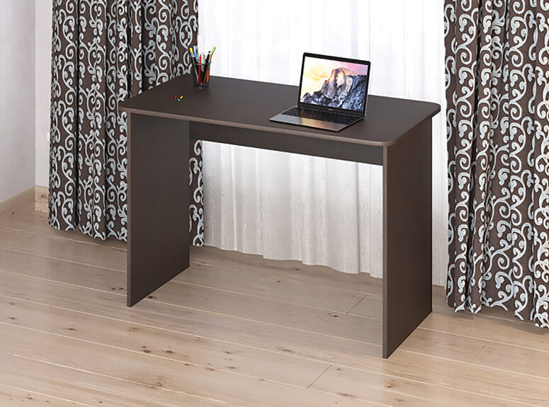 Eliza 1100 minimalistinio dizaino tamsiai rudos venge spalvos darbo stalas