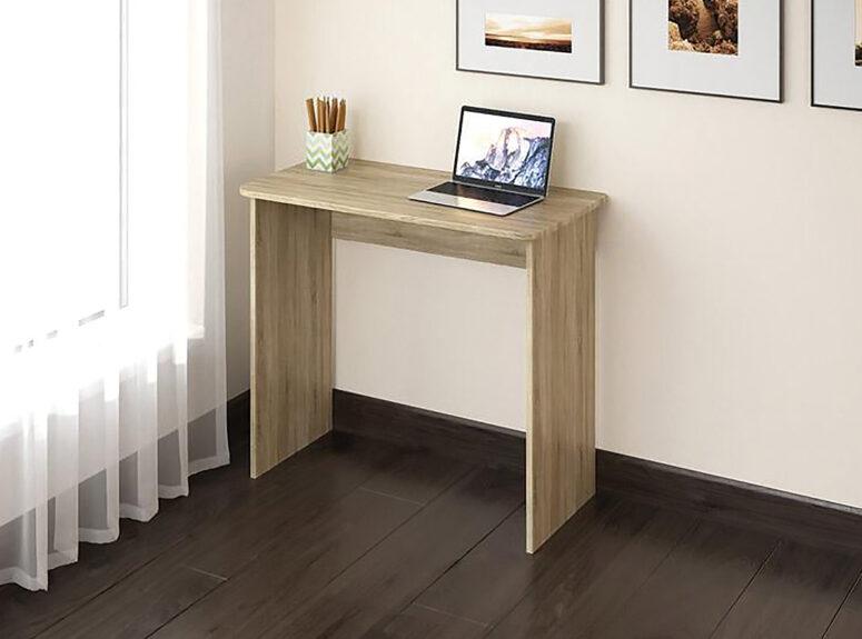 Eliza mažas minimalistinio dizaino šviesiai rudos sonoma ąžuolo spalvos darbo stalas