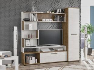 modernaus dizaino balta lengva nedidele bet talpi sekcija ferrara baltos ir rudos spalvos