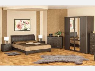 tokio miegamojo kambario komplektas dvigule lova naktine spintele komoda spinta