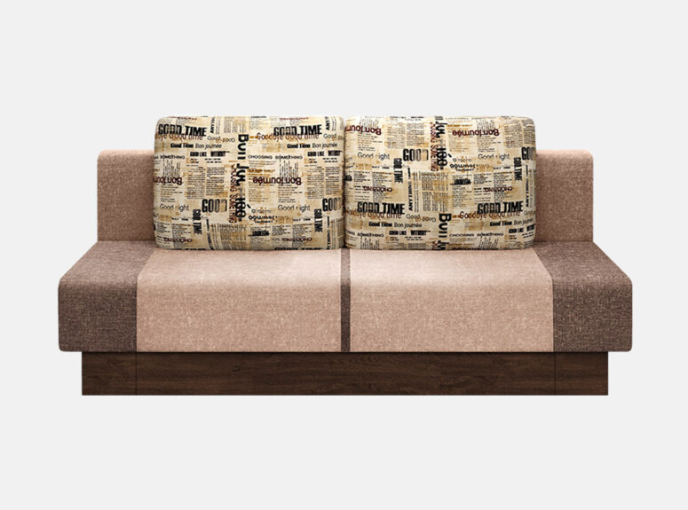 Etiud - nedidelė žaismingo dizaino spalvinga sofa-lova su patalynės dėže.