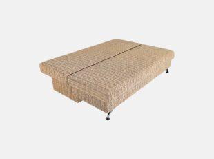 Lagūna M1 vidutinio kietumo sofa-lova su nuimamais porankiais ir plačia miegamąja dalimi
