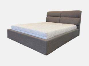 Dvigulė pilkos spalvos 160x200 cm lova, stabili pagaminta iš kokybiškų medžiagų lova edinburg su pneumatiniais amortizatoriais