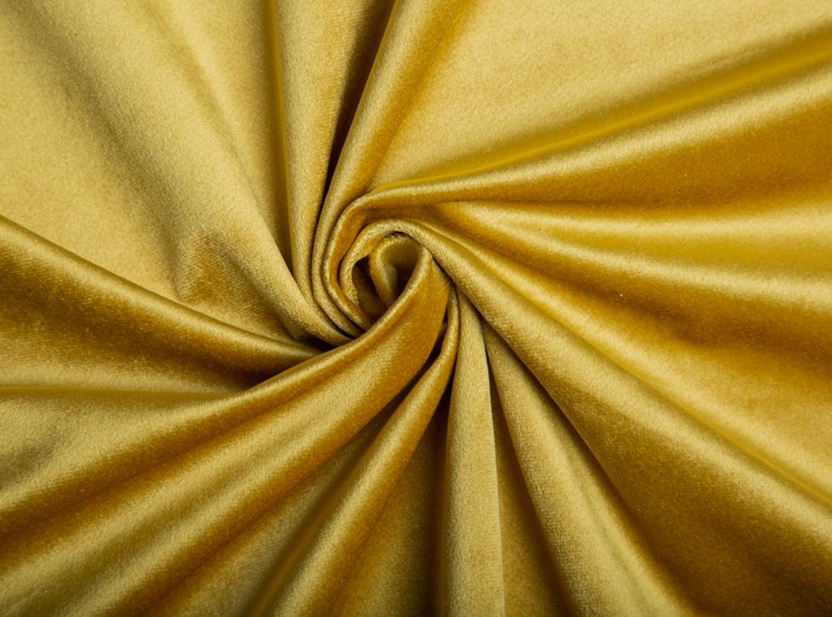 Geltonos spalvos švelnus veliūras lovoms, gaminamoms paal individualų užsakymą.