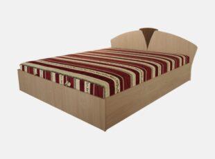 Viengulė ir dvigulė medinė lova su grotelėmis ir čiužiniu, sonoma ąžuolo, venge, bodega, triufelio, šokolado spalvos medienos faniera.