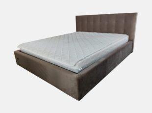 Dvigulė pilkos spalvos 160x200 cm lova, stabili pagaminta iš kokybiškų medžiagų lova čester su pneumatiniais amortizatoriais