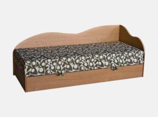 kompaktiska iskleidziama medinė dvigule kusete su patalynes deze