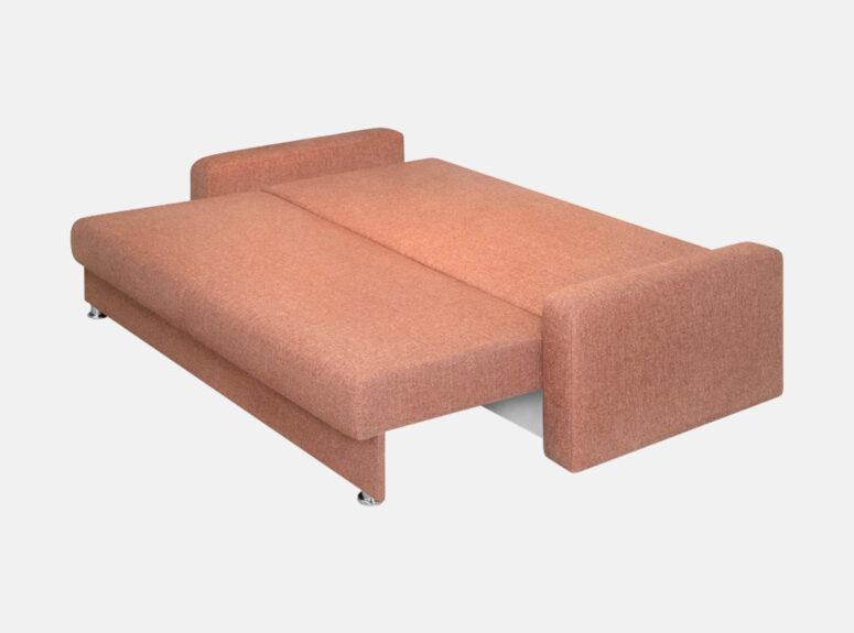 Palermo - kokybiška erdvi sofa-lova su kojelėmis, patalynės dėže ir miegojimo funkcija