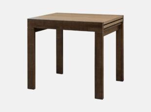 patikimas ir funkcionalus reguliuojamo ilgio, riešuto spalvos stalas twist