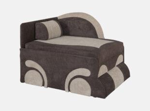 Rudos spalvos vaikiškas miegamasis foteliukas