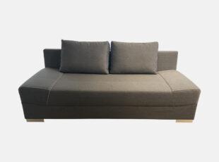 Pilkos spalvos sofa lova vigo su talpia patalynes dėže ir bonel spyruoklėmis