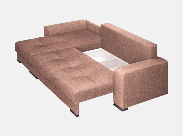Aukštos kokybės patvarus kampas su ryškiomis pagalvėlėmis, patalynės dėže