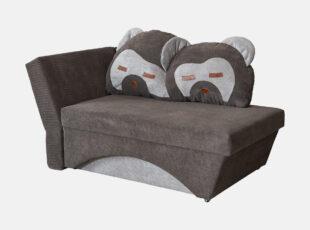 Junior rudos spalvos miegamasis foteliukas meškiukas
