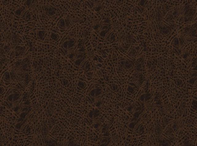 Tamsiai rudos spalvos eko oda su raštais