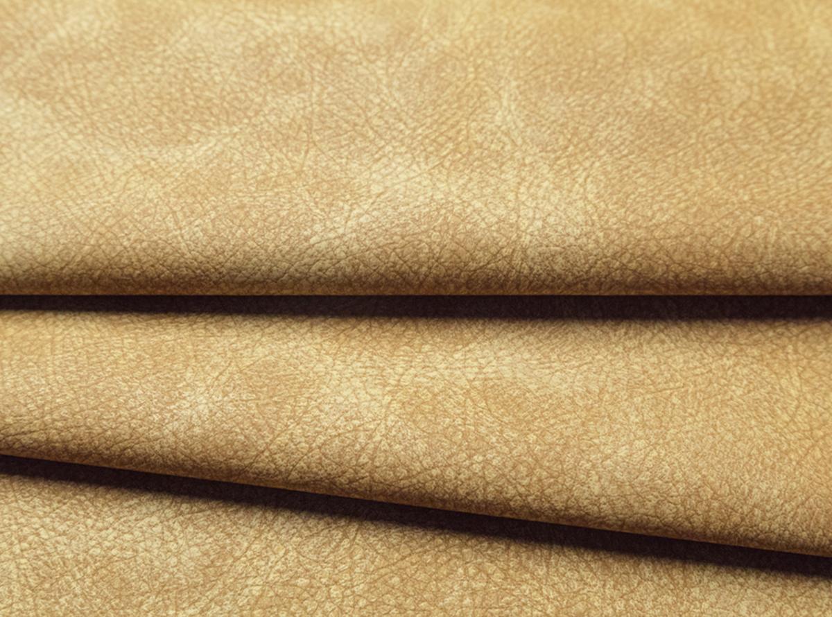 Švelniai rudos spalvos matinė eko oda su gražia tekstūra