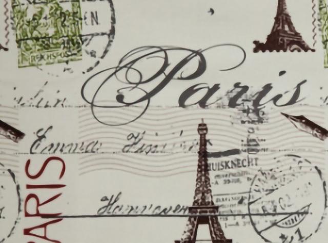 Švelnus gobelenas su Paryžiaus miesto vaizdais
