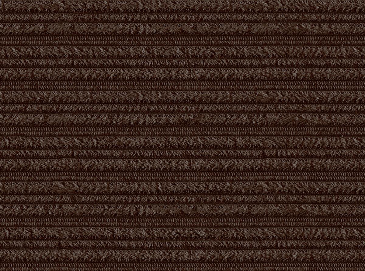 Tamsiai rudos spalvos velvetinis švelnus audinys - atsparus vandeniui ir nešvarumams