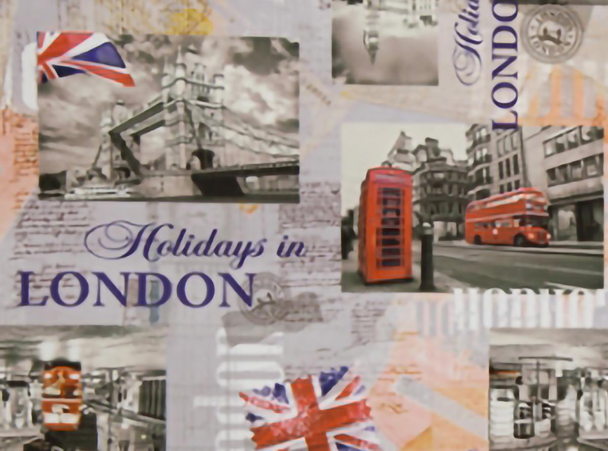 Švelnus gobelenas su Londono miesto vaizdais