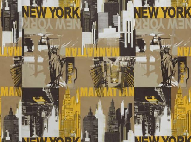 Švelnus gobelenas su New York miesto vaizdais
