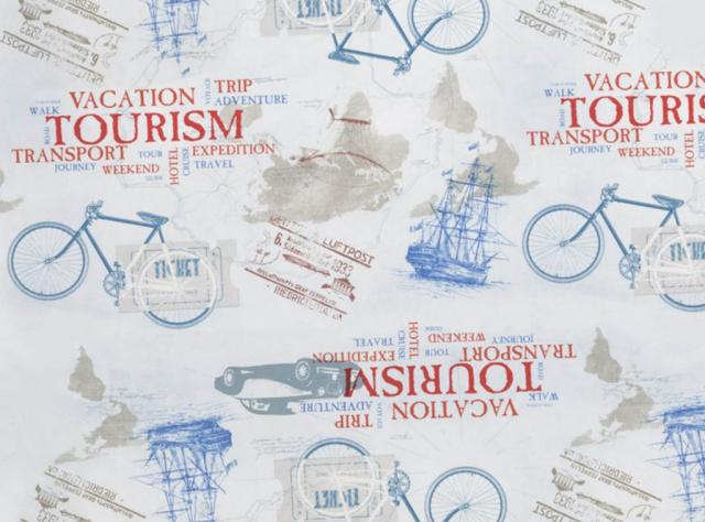 Audinys su transporto priemonių vaizdais - masinos, laivai, dviračiai