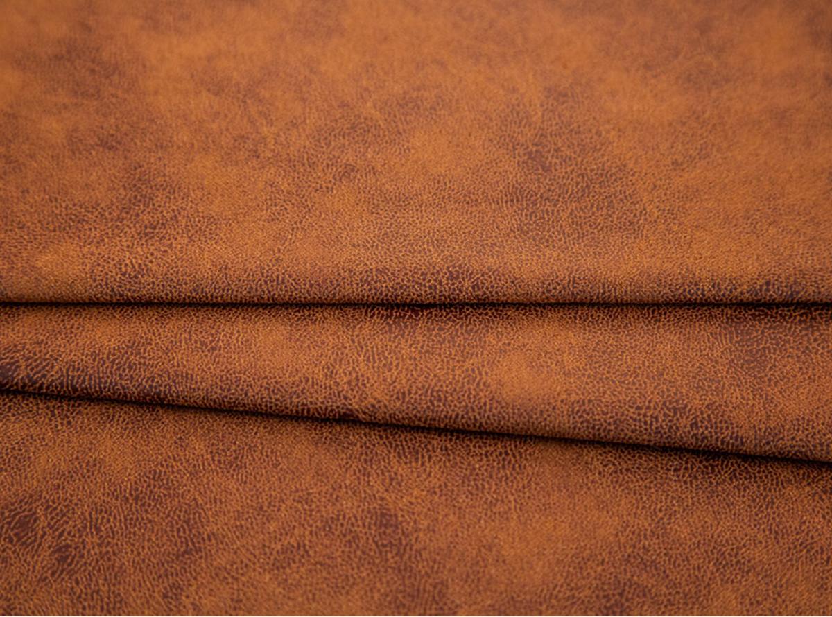 Daili, ryški, matinė rudos spalvos eko oda su tekstūra