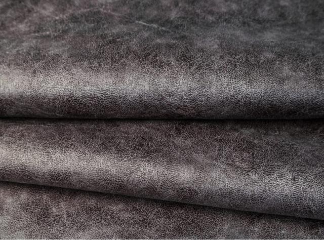 Tamsiai pilkos spalvos eko oda su tekstūra