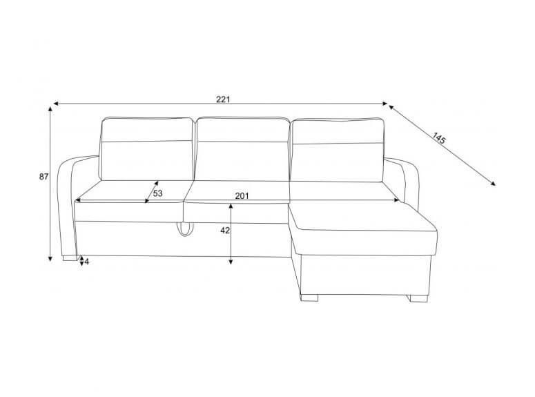 Dviejų atspalvių rudas minkštas kampas su patalynės dėže ir miegojimo funkcija